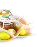 Bolo e ovos de Easter Foto de Stock Royalty Free
