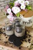 Bolo em cookies do frasco Fotos de Stock Royalty Free
