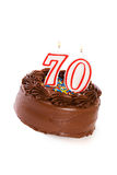 Bolo: Endureça para comemorar o 70th aniversário Foto de Stock
