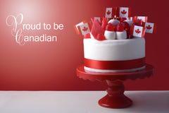 Bolo feliz da celebração do dia de Canadá Fotografia de Stock Royalty Free