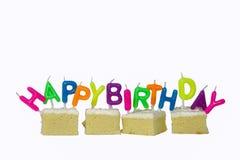 Bolo feliz do dia do nascimento Foto de Stock