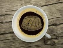 Bolo fresco no copo do coffe Imagem de Stock