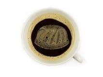 Bolo fresco no copo do coffe Fotografia de Stock