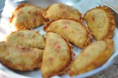 Bolo fritado com estilo chinês do material do vegetariano Foto de Stock Royalty Free