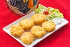 Bolo fritado do camarão, alimento tailandês Imagens de Stock