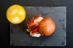Bolo frito aéreo do bacon Foto de Stock Royalty Free
