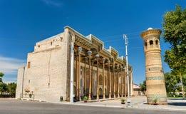 Bolo Hauz Mosque in Bukhara, Uzbekistan. Central Asia Stock Photography