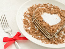 Bolo Heart-shaped fotografia de stock royalty free