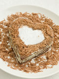 Bolo Heart-shaped fotografia de stock