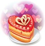 Bolo Heart-shaped Imagem de Stock