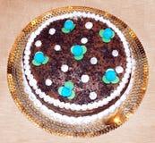 Bolo italiano do chocolate Imagens de Stock