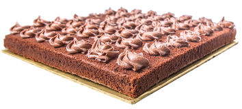 Bolo IV da folha do chocolate Fotografia de Stock Royalty Free