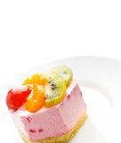 Bolo low-calorie saboroso da fruta imagem de stock