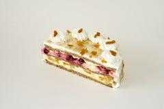 Bolo luxuoso da sobremesa de creme Fotos de Stock Royalty Free