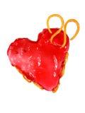 Bolo no formulário de um coração Imagens de Stock Royalty Free