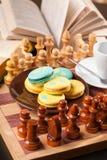 Bolo no tabuleiro de xadrez Imagem de Stock Royalty Free