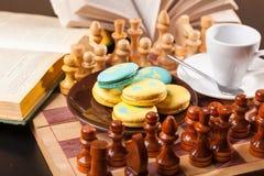 Bolo no tabuleiro de xadrez Foto de Stock