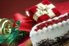 Bolo para o Natal fotografia de stock royalty free