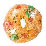 Bolo Rei, de Portugese cake van Kerstmis Stock Fotografie