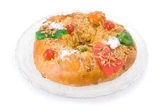 Bolo Rei, de Portugese cake van Kerstmis Stock Afbeelding