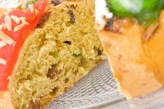 Bolo Rei, o bolo português do Natal Fotos de Stock Royalty Free