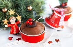 Bolo saboroso do Natal Fotografia de Stock Royalty Free