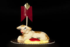 Bolo Sicília de Easter do maçapão dos carneiros Fotos de Stock Royalty Free