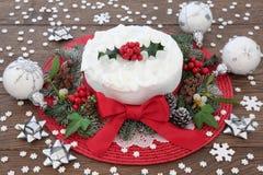 Bolo tradicional do Natal Imagem de Stock