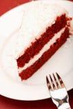 Bolo vermelho de veludo Imagem de Stock Royalty Free