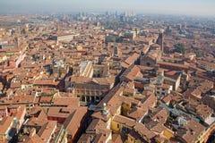Bologna - światopogląd od Torre Asinelli wschód zdjęcia stock