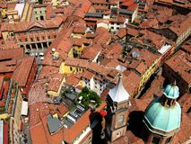 Bologna 2. A view of the roofs of Bologna Royalty Free Stock Image