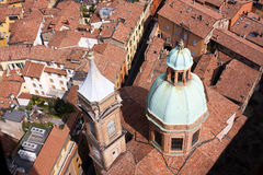 Bologna. City of Bologna view from above Stock Photos