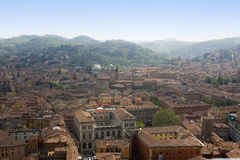 Bologna. City of Bologna view from above Royalty Free Stock Photography