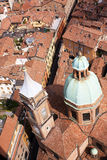Bologna. City of Bologna view from above Royalty Free Stock Photo