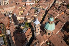 Bologna From Above Royalty Free Stock Images