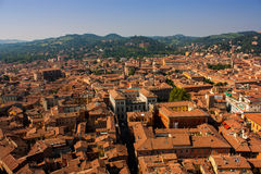 Bologna from above. Bologna view from the tower, Bologna, Italy Stock Photos