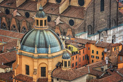 Bologna aerial view Stock Images