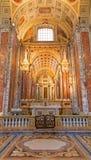 Bologna - altare laterale nella chiesa di St Peters Fotografia Stock Libera da Diritti