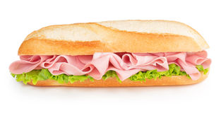 Bologna And Lettuce Sandwich Royalty Free Stock Photography