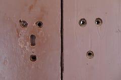 Bologna, antique wooden door Stock Photo