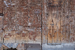 Bologna, antique wooden door Royalty Free Stock Photography