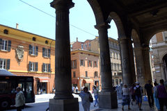 Bologna archways Italy Royalty Free Stock Images