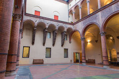 Bologna - Atrium of Museo civico medievale Royalty Free Stock Photo