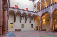 Bologna - Atrium of Museo civico medievale - Medieval museum. Stock Images
