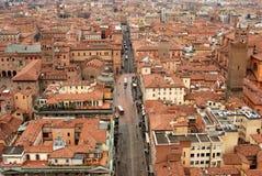 Bologna auf von der Höhe Stockfoto