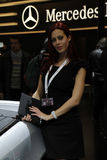Autoausstellungsrevuegirl Lizenzfreie Stockfotografie