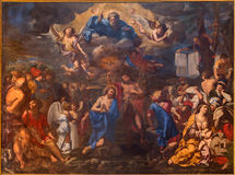 Bologna - The Baptism of Christ by Elisabetta Sirani from year 1658 in baroque church San Girolamo della certosa. Royalty Free Stock Photography