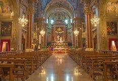 Bologna - baroque church - Chiesa di San Paolo Stock Photos