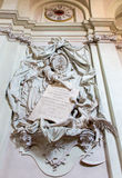 Bologna - Baroque funeral memorial of General Marsili (1733) by Angelo Pio in church Saint Dominic church Stock Photography