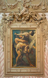 Bologna - Battle of Jacob with the angel in church Chiesa di San Domneico Stock Photos